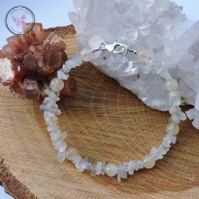 Aragonite & Moonstone Bracelet